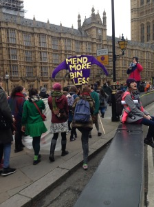 Mend More Jumper at the Climate March 2015